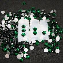 1440 pcs/Pack SS6-SS8 Emerald Nail Art Decorations Rhinestones For 3d Charm Glass Flatback Non Hotfix DIY Nails