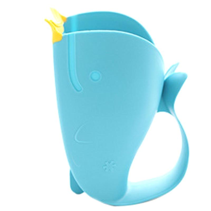 1 Pc Baby Bath Cap Kids Washing Hair Shampoo Cartoon Whale Cup Children Shower Spoons Cute