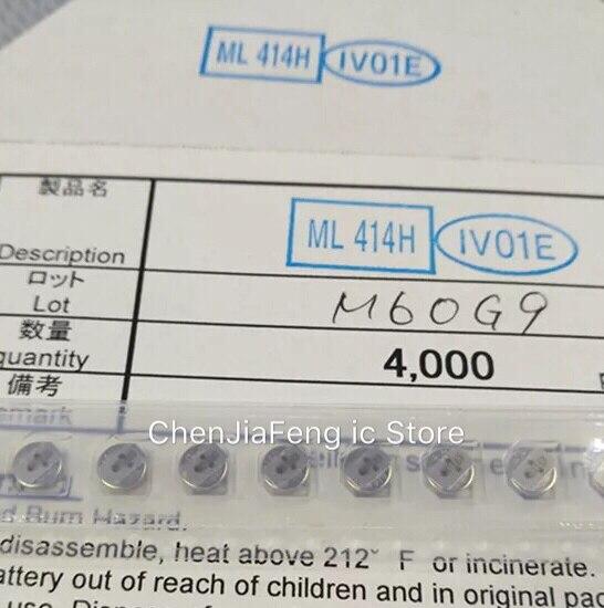5PCS~50PCS/LOT  ML414H-IV01E  ML414H  SMD  Button Battery