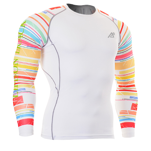 2018 football Base Layer Under Skin Tight T shirts mens colorful Gym Training MMA Bodybuilding Fitness Workout Clothes