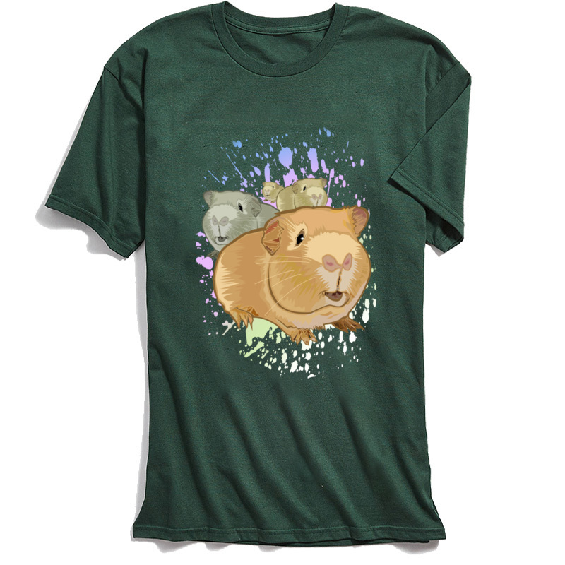 100 Cotton Men 39 s Tshirt Short Sleeve Guinea Pigs T Shirts Printed Tees Cheap Funny Round Collar Tops T Shirt Kawaii Clothing in T Shirts from Men 39 s Clothing