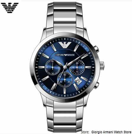 EMS / DHL Giorgio Armani Armani herenhorloges, Multifunctionele 3-Ey - Herenhorloges