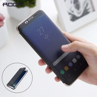 For Samsung Galaxy S8 Flip Case ROCK Dr V Series Transparent Invisible Full Window Flip Case