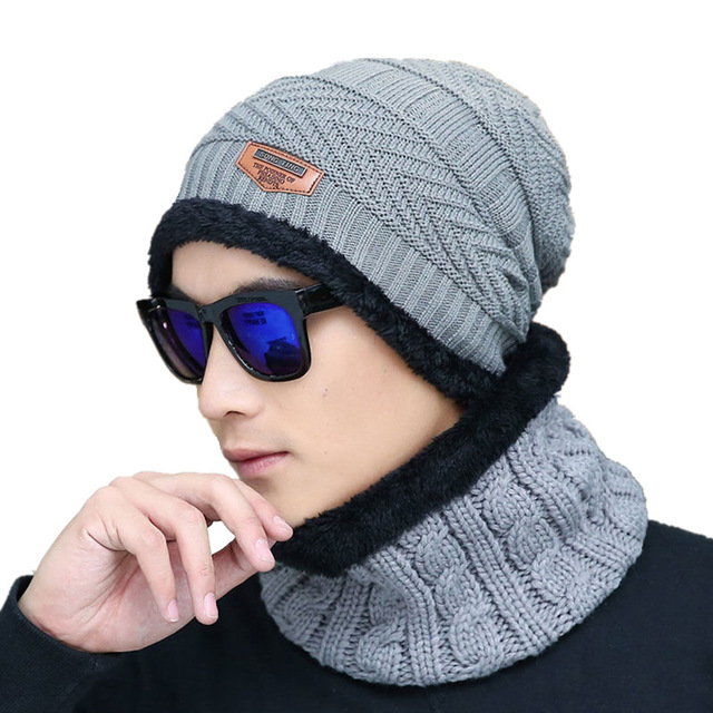 Balaclava Men Warm Hats Cap Scarf Winter Super warmth Wool Hat Knitting for men Caps Lady Beanie Knitted Hats Women's hats