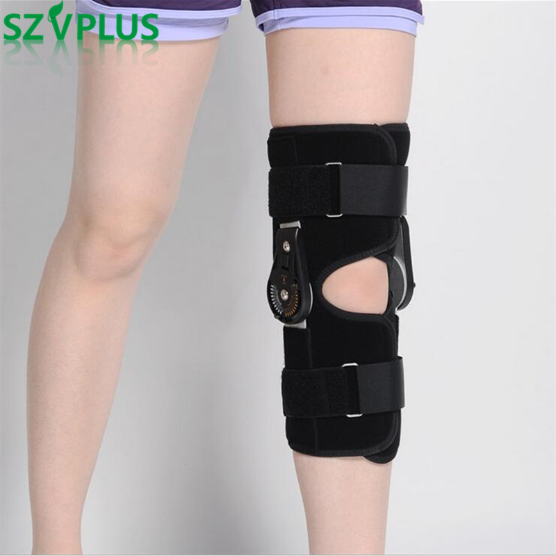 Support Ligament Sport Injury Adjustable Medical Hinged Knee Orthosis Brace Orthopedic Splint Osteoarthritis Knee Pain Pads OBER medical orthopedic hinged knee brace support adjustable splint stabilizer wrap sprain hemiplegia flexion extension