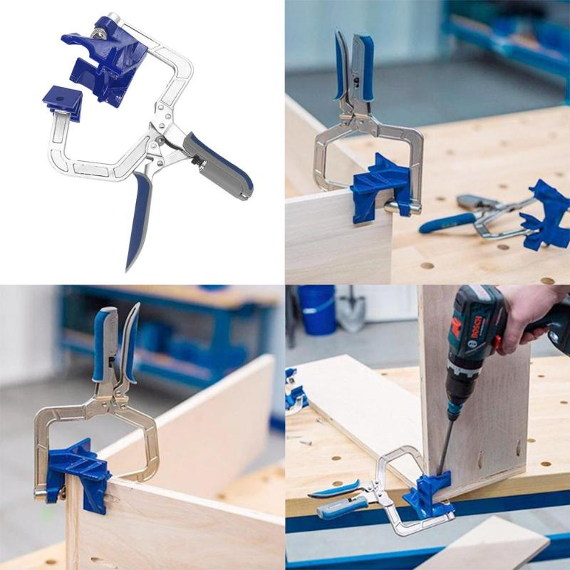 90 Degree Right Angle Woodworking Clamp Picture Frame Corner Clip Hand Tool Clamps For Woodworking-in Clamps from Home Improvement