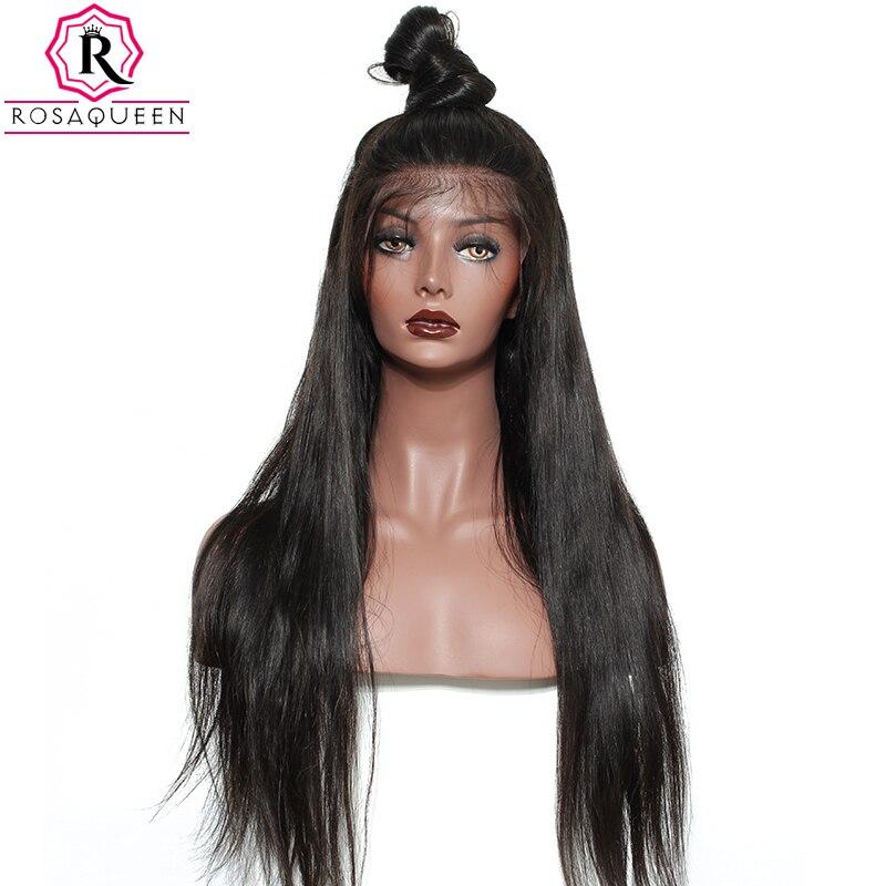 Brésilienne Droite Perruque 250% Densité 13x4 Dentelle Avant de Cheveux Humains Perruques Pour Les Femmes Pré Pincées Avec Bébé Cheveux remy Dolago Noir