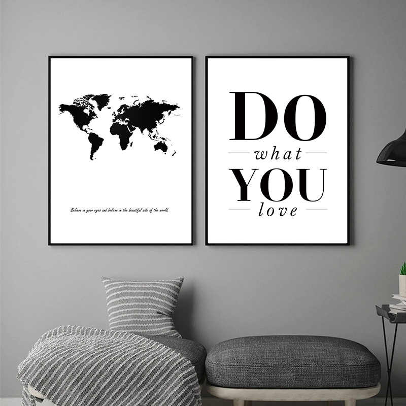 Nordic Modern Abstract Painting Black And White Minimalist Posters Canvas Painting Art Prints Wall Pictures For Living Room
