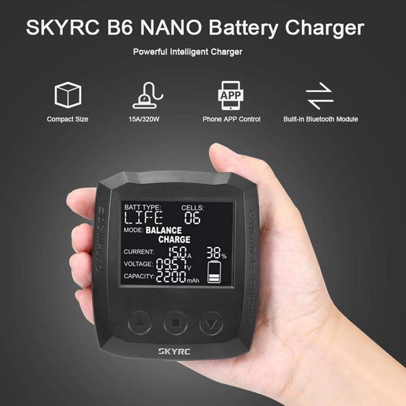 цена на SKYRC B6 Nano 320W DC Micro Multi-chemistry Balance smart Charger Ultra-Compact Bluetooth Equipped