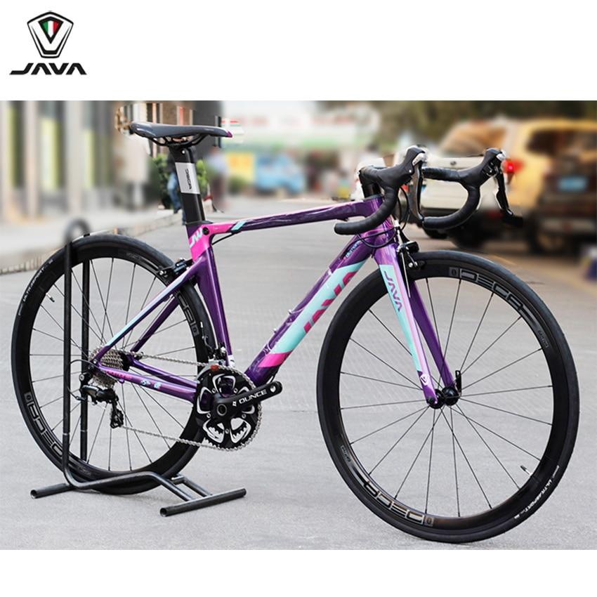 JAVA Women Road Bike Aluminum Frame Carbon Fork 700C Bicycle 105 5800 Shifter Tek tro Brake Alloy Wheels 22speed Capiler Brake d01 aluminum alloy bicycle front fork washer blue 28 6mm