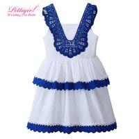 Retail Vintage Summer Casual Girl Layered Sundresses Designer Pettigirl Kids Girl Patchwork Clothing