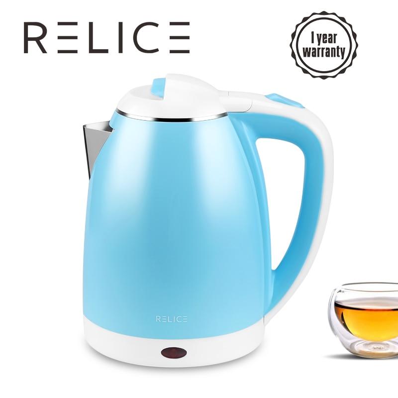 RELICE Electric Kettle EK-202 Auto Shut-Off Water Bottle 1600W Heating Kettles 1.8L Stainless Steel Boiling Pot 220V Teapot цена 2017