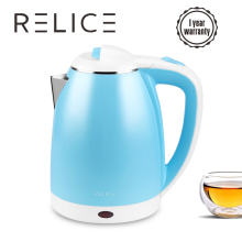 лучшая цена RELICE Electric Kettle EK-202 Auto Shut-Off Water Bottle 1600W Heating Kettles 1.8L Stainless Steel Boiling Pot 220V Teapot