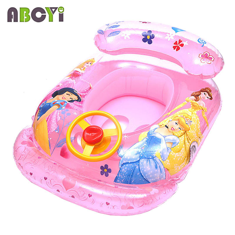 New Arrival ABC Children Inflatable Swimming Rings Baby Girls BoysSwim Circle Swimming Laps Boats Kids Seat Float with Speaker