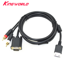 Hoge kwaliteit Definition Audio Video Cord RCA Sound Adapter HD PAL NTSC VGA box Kabel voor SEGA Dreamcast DC