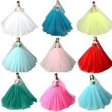 d5c9c0ac8ee NK кукла платье Высокое качество ручной работы длинный хвост вечернее  одежда кружево свадебное + вуаль для Барби игрушка лучший .