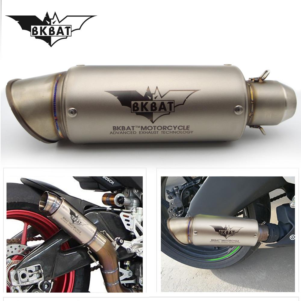 Llena de la motocicleta silenciador de escape de titanio de escape para BENELLI trk502 trk 502 tnt 300 tnt 125