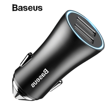 Baseus Dual USB Car Charger For iPhone XS Samsung Mobile Pho