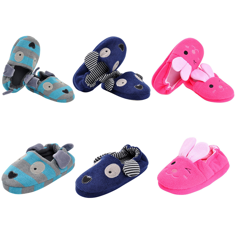 Baby Shoes All-Inclusive Cotton Cartoon Soft Home Indoor Baby Cotton Slippers Baby Boys Girls Warm Home Slippers