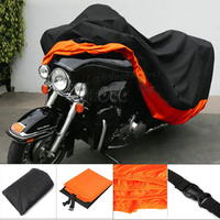 XXXL Orange Motorcycle Cover For Harley Davidson Street Glide Electra Glide Ultra Classic FLHTCU Road King Touring Honda GL
