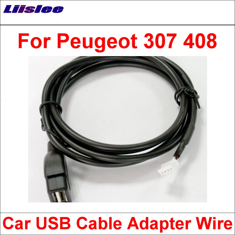 Liislee Original Plugs To <font><b>USB</b></font> Adapter Conector For <font><b>Peugeot</b></font> <font><b>307</b></font> 408 <font><b>Car</b></font> CD <font><b>Radio</b></font> Audio Media Cable Data Wire image