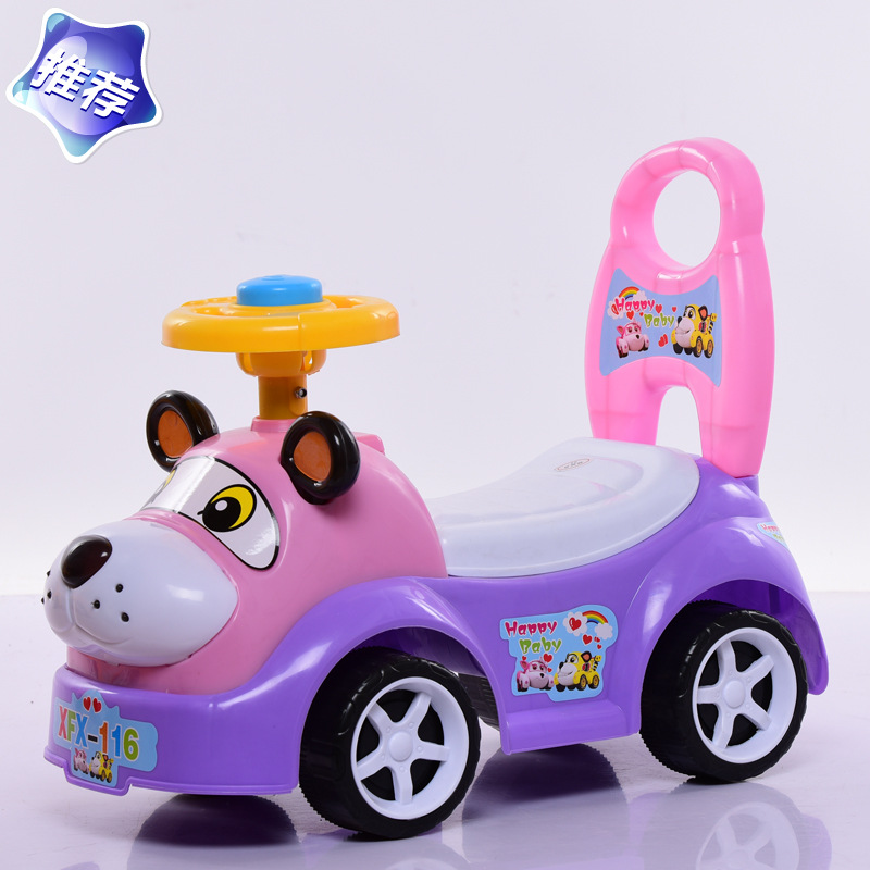 Baby Toy Shilly-Car Stroller twist car Walker Scooter 1-3 Years Old With Stickers Music Toys For Happy Baby Children the new children s relectric car tricycle motorcycle baby toy car wheel car rechargable stroller drive by foot pedal with music