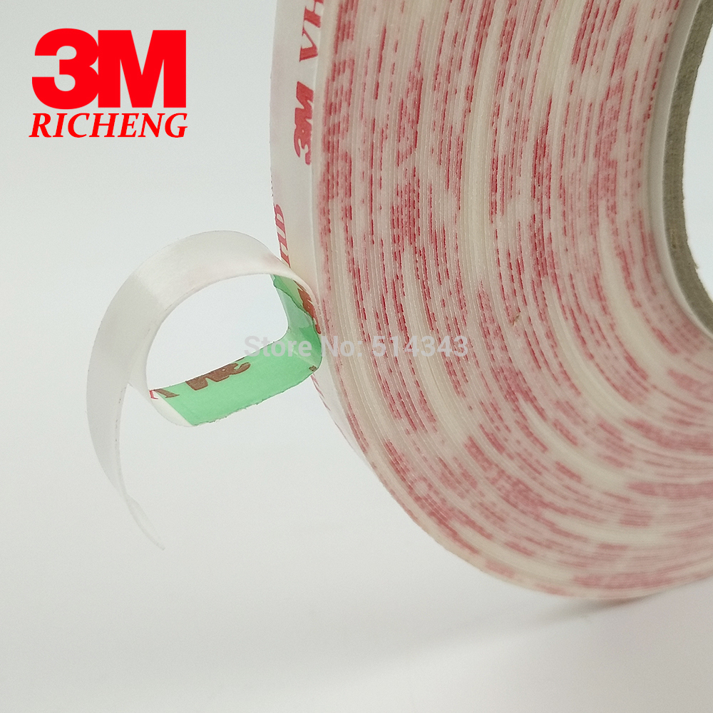3M brand tape 4920 VHB double sided tape clear transparent acrylic VHB 0.4mm thickness 3M tape 1piece 3m vhb 5952 heavy duty double sided adhesive acrylic foam tape black 150mmx100mmx1 1mm