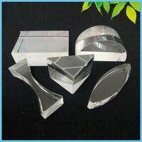 5 개/몫 광학 유리 프리즘 교육 프리즘 세트 물리학 빛 스펙트럼 프리