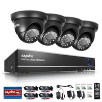SANNCE 4CH AHD CCTV Security DVR System HDMI 720 1200TVL Weatherproof Outdoor CCTV Camera 1 0MP