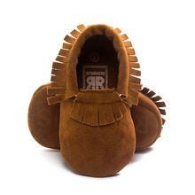New born Toddler Baby Boy Girl Tassel Soft Soled Non-slip Crib Shoes Infant Coral Velvet