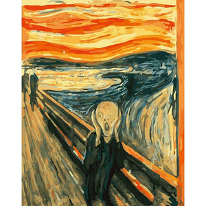 The Scream Edvard Munch Hand Made Paint High Quality Canvas Beautiful Painting By Numbers Surprise Gift Great Accomplishment(China)