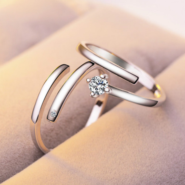 eebaa3743ac New Fashion Double Loop Art Zircon Engagement Rings for Women Rose Gold  Color Wedding Rings Female Austrian Crystals Jewelry Top