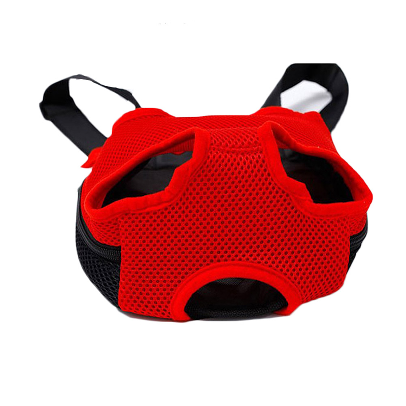 Pet Carrier Dog Front Chest Backpack Five Holes Backpack Dog Outdoor Carrier Tote Bag Sling Holder Mesh Cat Puppy Dog Carrier 13