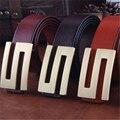 Mens Cinturones de Lujo Cinturones de Cuero Genuino de la Letra S Logo Hebilla de la Marca diseñador de la correa de Los Hombres Ceinture Homme Masculina Cinturón de Correa Ancha MBT0229