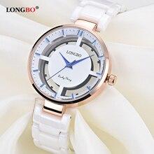 2018 New Luxury Hollow Women Watch Fashion Quartz Ceramic White Gold Strap Wrist Watches Relojes Mujer Gifts Female 80106