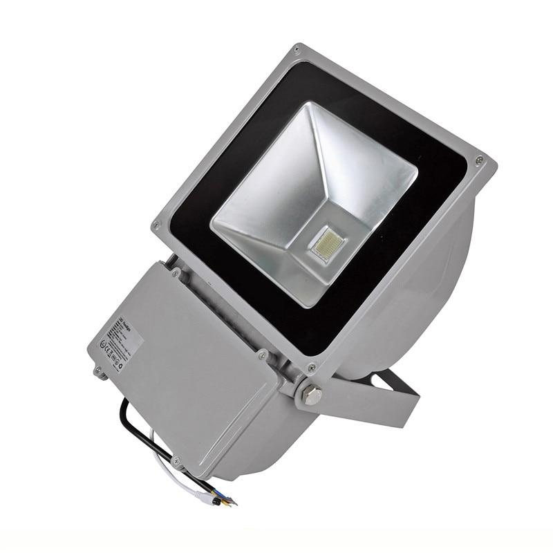 Luz de Inundação LEVOU 70 W/80 W/100 W Refletor de Alumínio Levou Luminaria de Parede Níquel Festão refletores de Iluminação de Campo de Futebol - 4