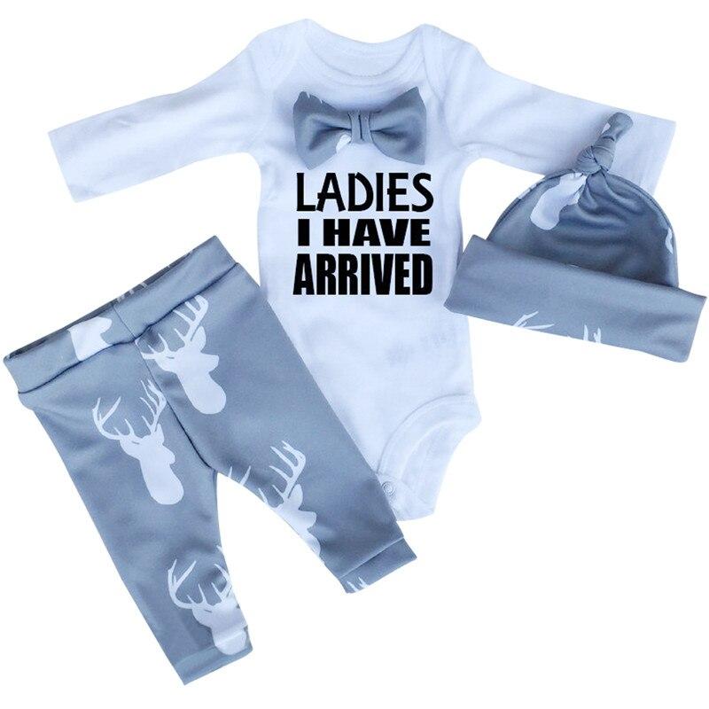 2017 herbst Neugeborenen Nette Lustige Baby Junge Mädchen Neugeborenen Säuglingsspielanzug-body Outfit Kleidung Romper Outfits Geburtstag Overalls