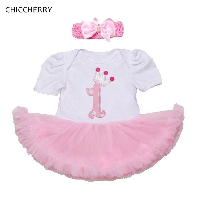 085f22287289b 1 an Fille bébé anniversaire Robe avec bandeau Vestido Infantil Robe Bebe  Fille Jurken enfant en