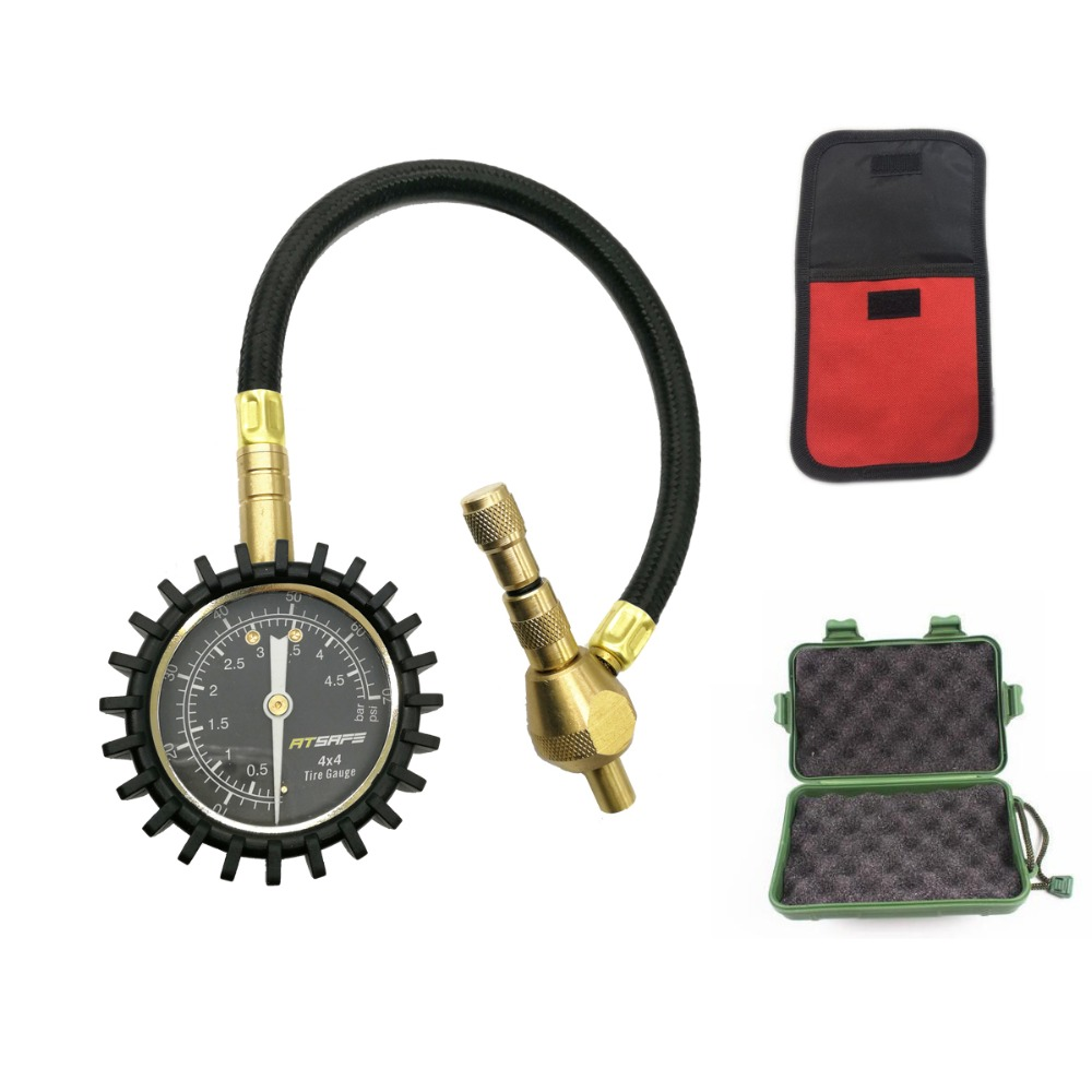 2 In 1 Professional Tire Rapid Deflator Pressure Gauge 75Psi With Special Chuck For 4X4 Large Offroad Tires