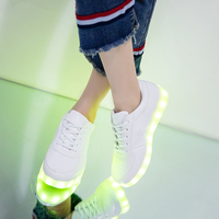 7ipupas USB Charger Children Led Shoes For Boy Girl Glowing Sneakers Kids Light Up Shoes Led