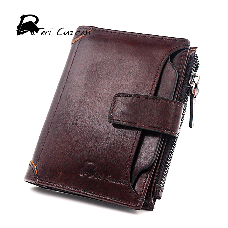 DERI CUZDAN 2017 New Brand Men Wallets Leather Genuine Short Coin Pocket Male Purse Card Holder Wallet Fashion Small Man Wallet new fashion gubintu removeable pocket men vintage wallets cow genuine leather wallet brand purse card holder coin purse jan 19