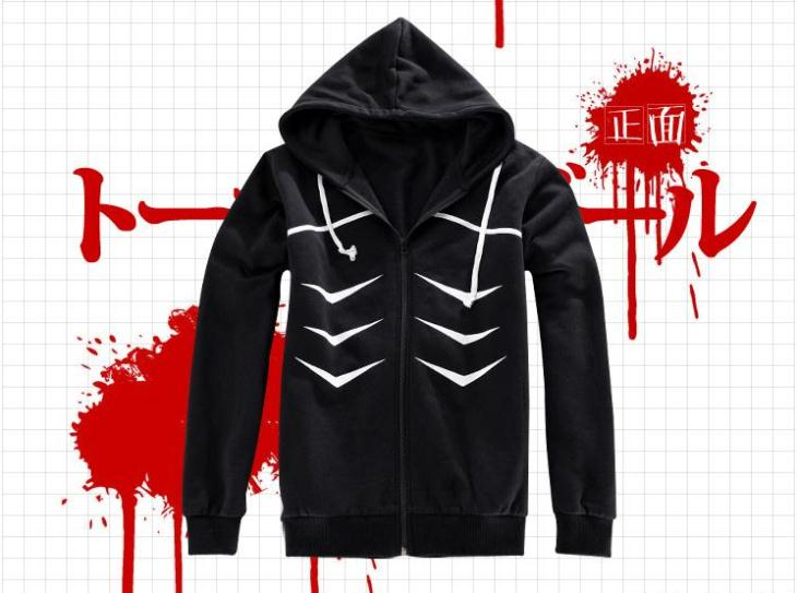 Autumn New Adults Hoody  Anime Tokyo ghouls Cosplay  Hoody Casual Style Black Tops Hoody Jacket sweatshirt for Unisex