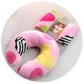Alta Qualidade Bebê Travesseiro Em Forma de U Encosto de Cabeça Dos Desenhos Animados do Projeto Crianças Protetor de Pescoço Travesseiro de Viagem do bebê Brinquedos para crianças de 7 meses Até O Velho TRQ0121