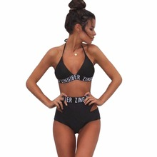 Bandage Brazilian Push Up Off Shoulder Swimsuit