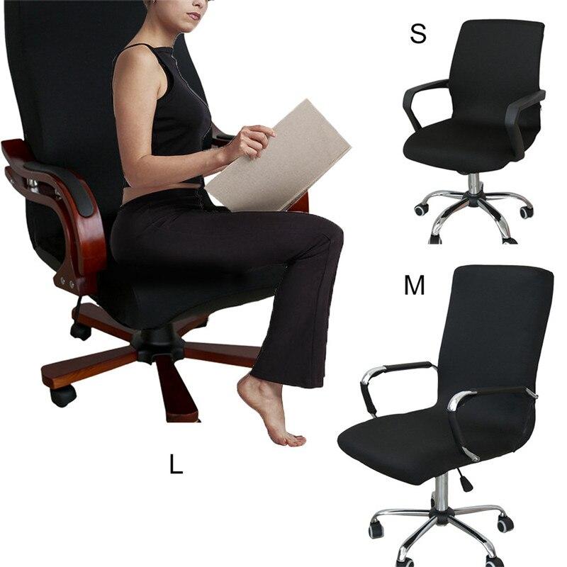 Büro Computer Stuhl Abdeckung Stretch Spandex Sessel Sitzbezüge Drehstuhl Schonbezug Schutz Treffen Sitz Dekoration 4 Farbe
