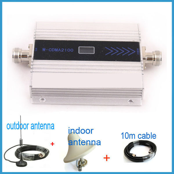 Best Price ! W-CDMA 2100 MHz 3G Repeater Mobile Phone 3G Signal Booster WCDMA Signal Repeater Cellular Amplifier + Antenna