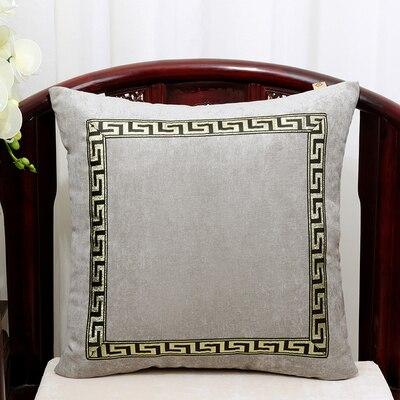 Высококлассное роскошное кружевное бархатное покрытие для подушки Чехол Рождественская Подушка Чехлы для дивана стула декоративная наволочка Подушка - Цвет: Светло-серый