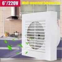 Warmtoo 6 Inç 220 V Asılı Duvara monte Duvar Pencere Banyo Mutfak Tuvalet Için Küçük Ventilatör Extractor Egzoz Fanları