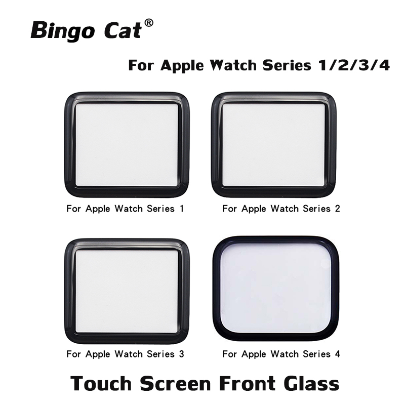 Ori Quality Replacement External Glass For Apple Watch Series 1 2 3 38 42 Mm 4 5 40 44mm LCD Touch Screen Front Outer Glass Lens