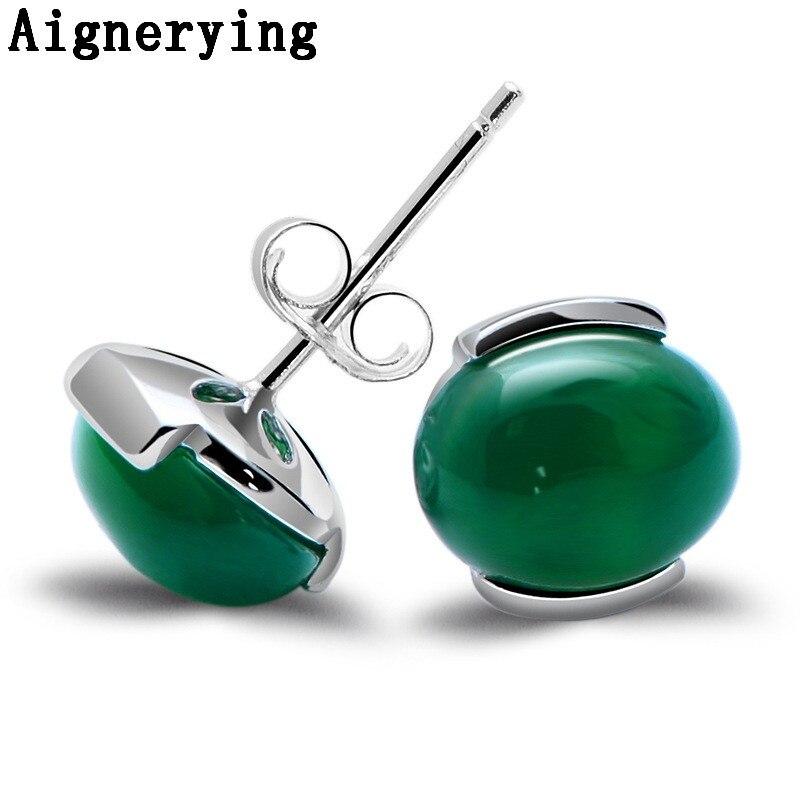 Certificat naturel Medullary Jade Medullary Earings 925 argent femmes bijoux cadeau avec boîte